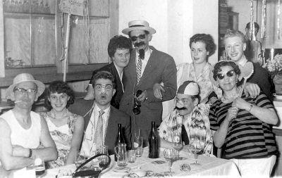 Faschingsball Schachclub Prien 50er Jahre Hotel Kronprinz